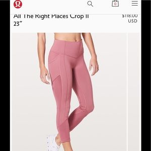 Lululemon All in the right places crop size 10